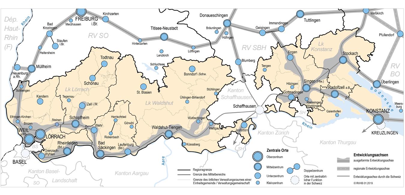 Strukturkarte vom Regionalverband.