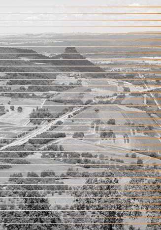 Schwarz-weiß-Bild mit Streifen vom Hohenkrähen.